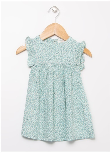 Mammaramma Mammaramma Kız Çocuk Mint Elbise Yeşil